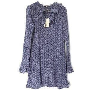 What Goes Around Comes Around Pierette Dress Blue